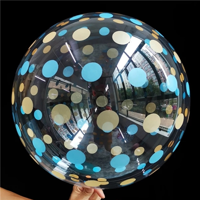 "К BUBBLE 18"" Кристалл Dots Gold Blue"
