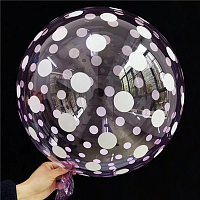 "К BUBBLE 18"" Кристалл Purple Dots"
