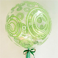"К BUBBLE 20"" Кристалл Green круги"