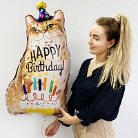 К ФИГУРА Кот Happy Birthday