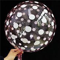 "К BUBBLE 18"" Кристалл Pink Dots"