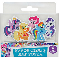 Свеча д/торта на пик My Little Pony 5шт