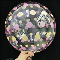 "К BUBBLE 18"" Кристалл Dots Gold Pink"