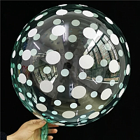 "К BUBBLE 18"" Кристалл Green Dots"